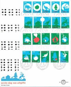 Nederland 1998 FDC Decemberzegels onbeschreven E395/1-4