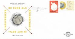 Nederland 1999 FDC Het Kwartje, Eurozegel onbeschreven E396