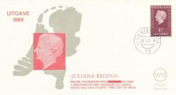 Nederland 1969 FDC Frankeer Juliana Regina 1,25 gld W10