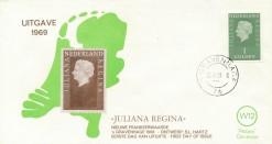 Nederland 1969 FDC Frankeer Juliana Regina 1 gld W12