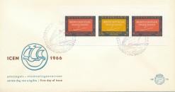 Nederland 1966 FDC Blok I.C.E.M. onbeschreven E78A