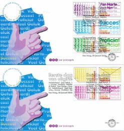 Nederland 2002 FDC Zegels uit boekje ''tien maal Gefeliciteerd'' onbeschreven E451 (2)