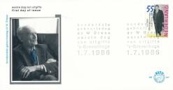 Nederland 1986 FDC Dr. W. Drees onbeschreven E237