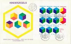 Nederland 1970 Groot formaat FDC Kinderzegel Blok