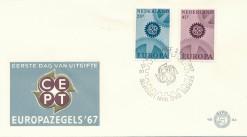 Nederland 1967 FDC Europa onbeschreven E84