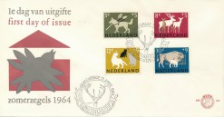 Nederland 1964 FDC Zomer onbeschreven E63