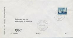 Nederland 1963 FDC Frankeer staatsmijnen 4 c W2