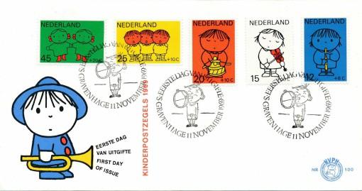 Nederland 1969 FDC Kind onbeschreven E100 1