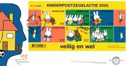 Nederland 2005 FDC Blok Kinderzegels onbeschreven E522