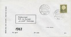 Nederland 1963 FDC Frankeer Juliana 24 c W3