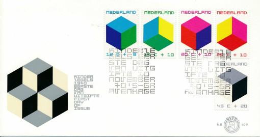 Nederland 1970 FDC Kind onbeschreven E109 1