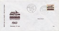 Nederland 1963 FDC Frankeer delta 10 c  W4