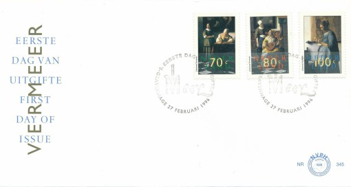 Nederland 1996 FDC Johannes Vermeer onbeschreven E345 1