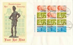 Nederland 1966 Groot formaat FDC Kinderzegel Blok