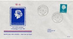 Nederland 1965 FDC Frankeer Juliana 18 c W6