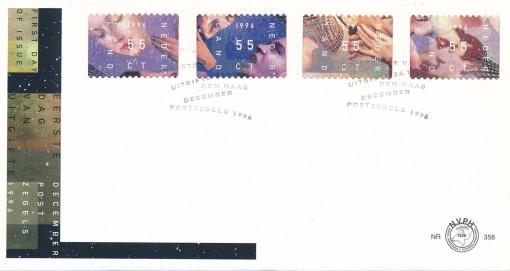 Nederland 1996 FDC Decemberzegels onbeschreven E358 1