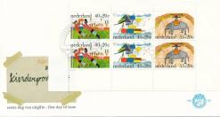 Nederland 1976 FDC Blok Kinderzegels onbeschreven E153A