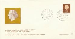 Nederland 1967 FDC Frankeer 95 c W8