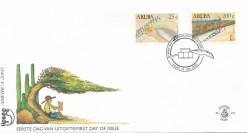 Aruba 2002 FDC America-zegels UPAEP, campagne teen analfabetisme E 101