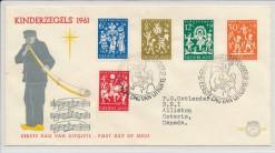 Nederland 1961 FDC Kind met getypt adres  E49
