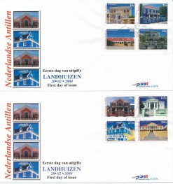 Nederlandse Antillen 2004 FDC Landhuizen E 357A/B