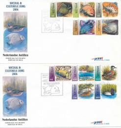 Nederlandse Antillen 2004 FDC Sociale en culturele zegels E 363A/B