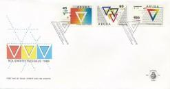 Aruba 1988 FDC YMCA wereldcongres E 16