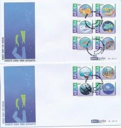 Aruba 2012 FDC Onderwaterleven en duiken E 181A/B