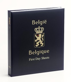 Luxe band postzegelalbum  Belgie First Day Sheets