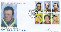 Sint Maarten 2013 FDC 200 jaar Koninkrijk E 31