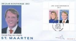 Sint Maarten 2013 FDC 200 jaar Koninkrijk E 31A