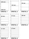 Kosmos insteekbladen Cristal assortiment (per 8)