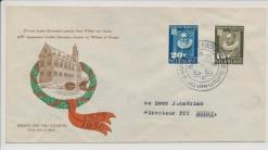 Nederland 1950 FDC Leidse Universiteit met getypt adres  E3