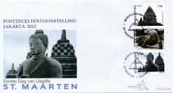 Sint Maarten 2012 FDC Jakarta, postzegeltentoonstelling E 12