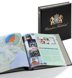 Luxe band postzegelalbum  Nederland Grenzeloos Nederland
