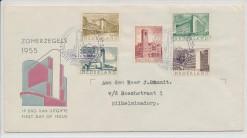 Nederland 1955 FDC Zomer met getypt adres  E21