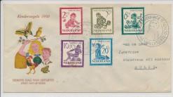 Nederland 1950 FDC Kind met getypt adres  E4
