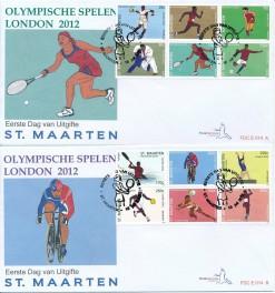 Sint Maarten 2012 FDC Olympische spelen Londen E 14 (2)