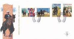Aruba 1995 FDC Interpaso-paardenshow E 57