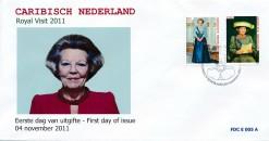 Caribisch Nederland  2012 FDC Koninklijk bezoek E 5A