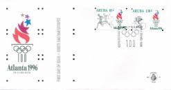 Aruba 1996 FDC 100 jaar Olympische spelen, Olympische spelen Atlanta E 63