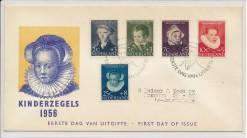 Nederland 1956 FDC Kind met getypt adres  E28
