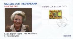 Caribisch Nederland  2012 FDC Koninklijk bezoek E 5B