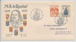 Nederland 1957 FDC De Ruyter met getypt adres  E30