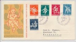 Nederland 1958 FDC Kind met getypt adres  E36