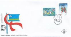 Aruba 2000 FDC America-zegels UPAEP, anti-aids E 87