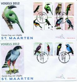 Sint Maarten 2012 FDC Vogels E 18A/B