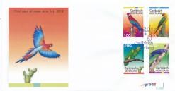 Caribisch Nederland  2012 FDC Papegaaien E 8