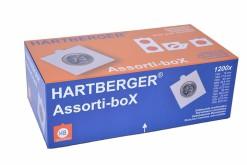 Hartberger Assortie-box met 1200x zelfklevende munthouders