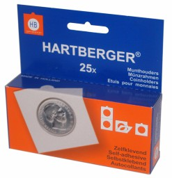 Hartberger Munthouders zelfklevend 15 mm -25x-